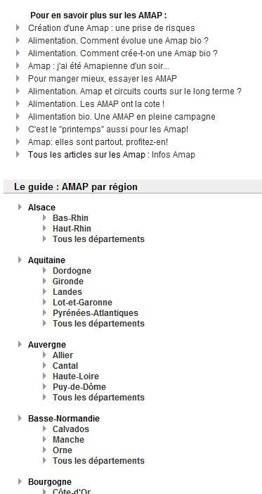 Annuaire des Amap en France