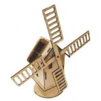 maquette moulin en bois