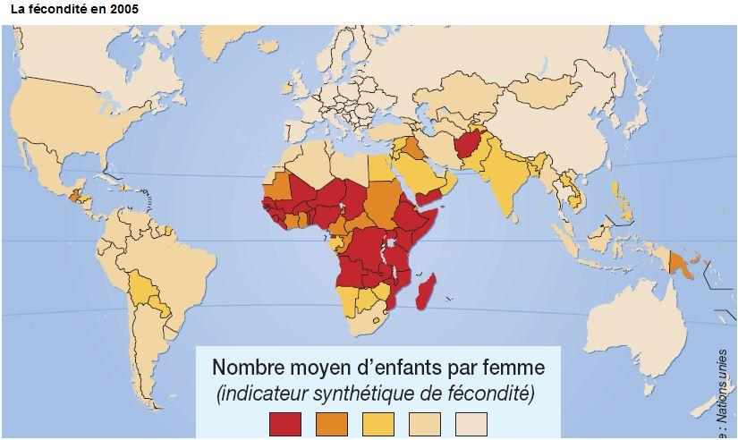 fecondité natalité monde