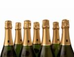 Bouteilles de champagne bio