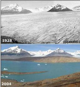 rechauffement climatique et glaciers