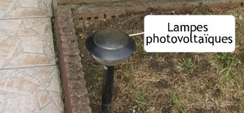 lampe électrique de jardin