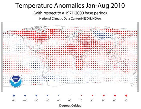 anomalies températures