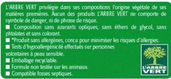 etiquette arbre vert