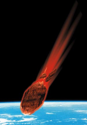 asteroide sur terre