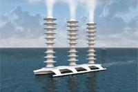 Bateau générateur de nuages