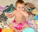 Bébé et couches lavables