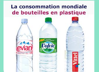 consommation monde bouteilles plastiques
