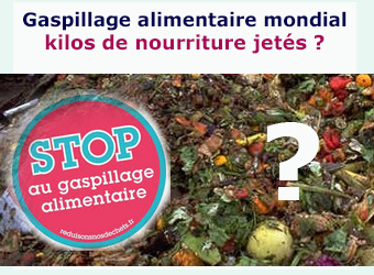 stats gaspillage alimentaire mondial