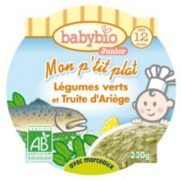 Petit plat babybio légumes verts