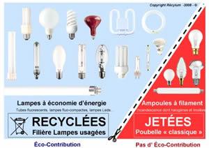 ampoules recyclées